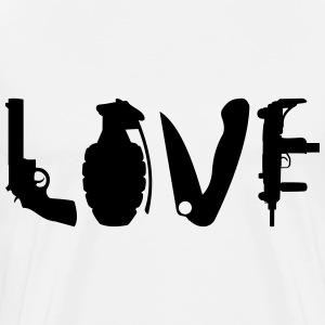 LOVE Weapons T-Shirts - Männer Premium T-Shirt