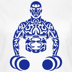 bodybuilder musculation muscu tribal Tee shirts - T-shirt Femme