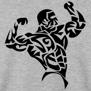 bodybuilder musculation muscu tribal 3 Sweat-shirts - Sweat-shirt Homme