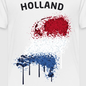 Holland Text Landkarte Flagge Graffiti T-Shirts - Teenager Premium T-Shirt