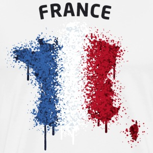 France Text Landkarte Flagge Graffiti T-Shirts - Männer Premium T-Shirt
