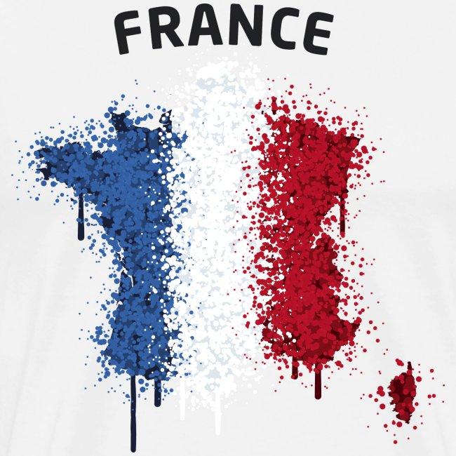 Herren Fußball Fan T-Shirt France Graffiti