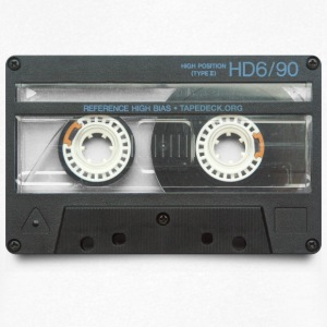 vintage tape: hd6/90 - T-skjorte med V-utsnitt for menn