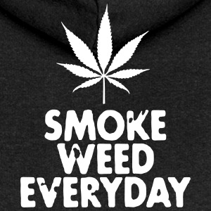 smoke weed everyday leaf Sweat-shirts - Veste à capuche Premium Femme