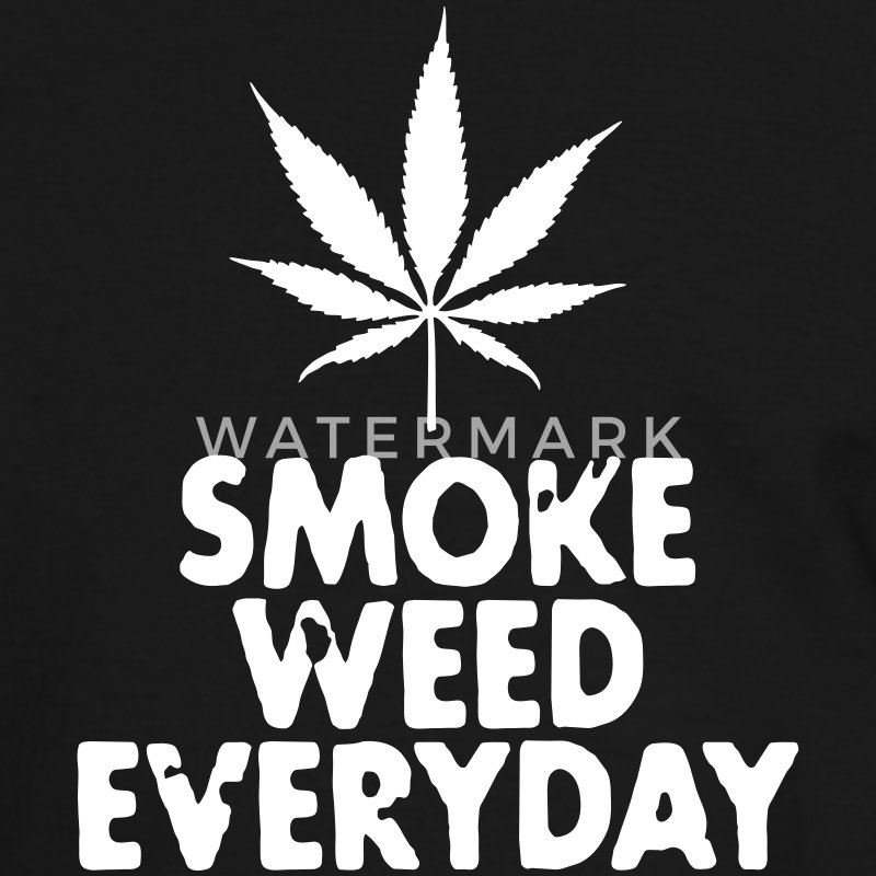 smoke weed everyday leaf T-shirts - Mannen contrastshirt