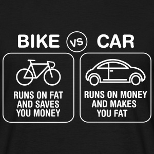 Bike VS Car T-skjorter - T-skjorte for menn