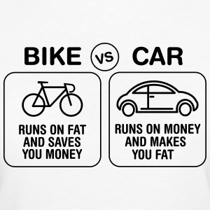 Bike VS Car T-Shirts - Frauen Bio-T-Shirt