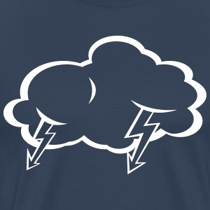 Lightning  cloud  T-Shirts - Men's Premium T-Shirt
