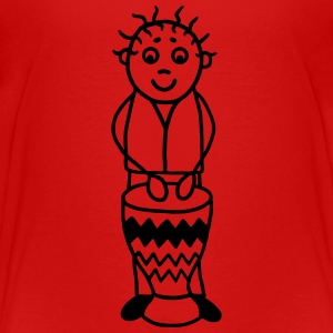 Trommler mit Djembe - Percussion T-Shirts - Teenager Premium T-Shirt