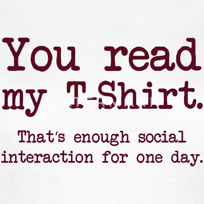 Social Interaction Tee shirts - T-shirt Femme