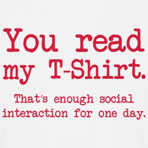 Social Interaction T-Shirts - Männer T-Shirt