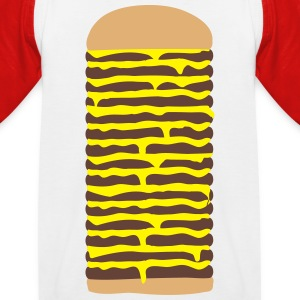 Cheeseburger T-Shirts - Kinder Baseball T-Shirt