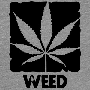 weed with boxed leaf Tee shirts - T-shirt Premium Femme
