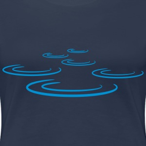 Water Drop Waves T-skjorter - Premium T-skjorte for kvinner