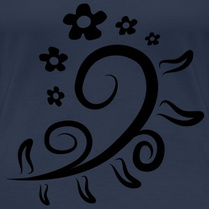 Flower Pattern T-Shirts - Frauen Premium T-Shirt