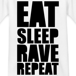 EAT SLEEP RAVE REPEAT T-Shirts - Kinder T-Shirt