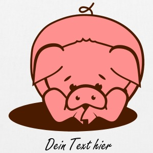 A pig lies on the floor Bags & backpacks - EarthPositive Tote Bag