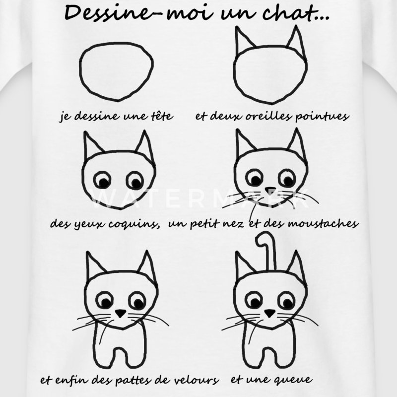 T-shirt enfant - dessine un chat - T-shirt Enfant