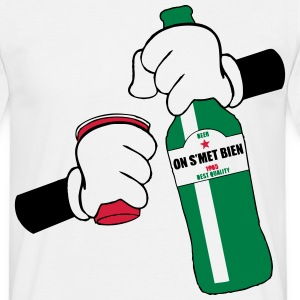 Tshirt Hand Redcup beer - T-shirt Homme