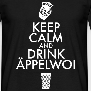 KEEP CALM AND DRINK ÄPPELWOI - Männer T-Shirt