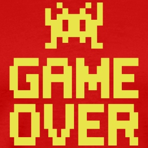 game over with sprite T-Shirts - Männer Premium T-Shirt