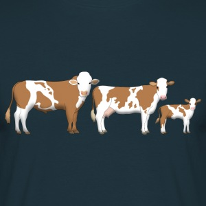 cowfamily 2 T-shirts - Herre-T-shirt