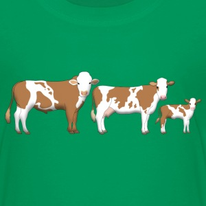 cowfamily 2 Skjorter - Premium T-skjorte for barn