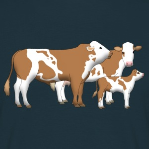 cowfamily 1 T-shirts - Herre-T-shirt