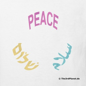 PEACE SHALOM SALAAM Youth Organic Cotton Tee - Kinder Bio-T-Shirt