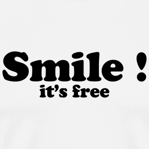 smile it's free T-Shirts - Men's Premium T-Shirt