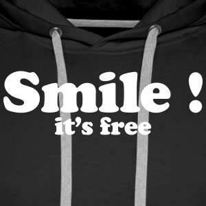 smile it's free Sweaters - Mannen Premium hoodie
