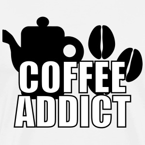 Coffee Addict T-shirts - Herre premium T-shirt