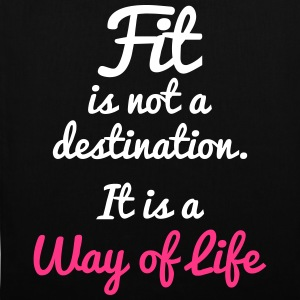 Fit Is Not a Destination Tassen & rugzakken - Tas van stof