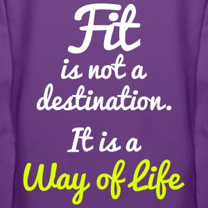 Fit Is Not a Destination Felpe - Felpa con cappuccio premium da donna