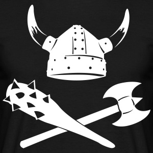 Viking Helmet with ax and mace  T-Shirts - Men's T-Shirt
