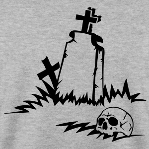 tombe croix funeste cimetiere dieu crane Sweat-shirts - Sweat-shirt Homme