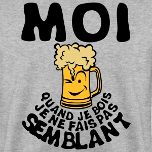 moi biere smiley bois alcool semblant Sweat-shirts - Sweat-shirt Homme