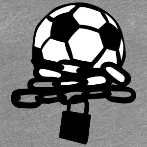 foot ballon chaine football cadenas Tee shirts - T-shirt Premium Femme