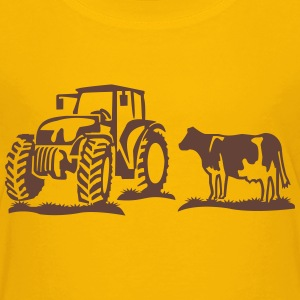 cow and tractor Shirts - Kids' Premium T-Shirt