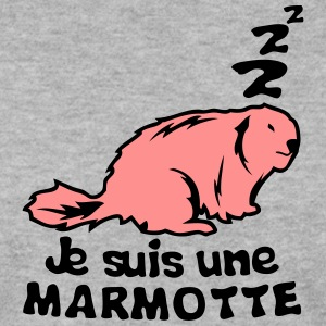 je suis une marmotte animal expression Sweat-shirts - Sweat-shirt Homme
