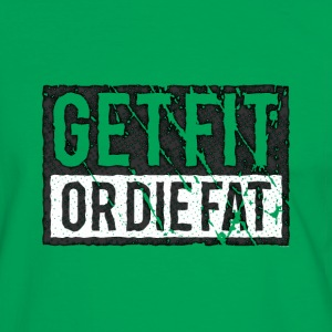 Get Fit Or Die Fat | Retro Tee shirts - T-shirt contraste Homme
