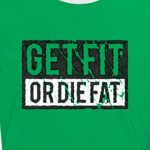 Get Fit Or Die Fat | Retro T-Shirts - Women's Ringer T-Shirt