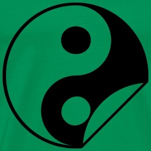 Yin Yang Sticker T-Shirts - Men's Premium T-Shirt