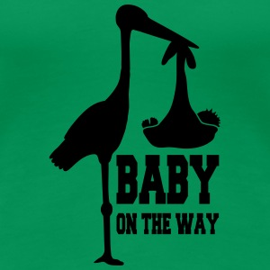 Stork Baby On The Way T-Shirts - Frauen Premium T-Shirt