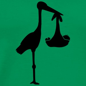Stork And Baby T-shirts - Herre premium T-shirt