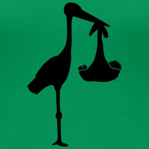 Stork And Baby T-skjorter - Premium T-skjorte for kvinner