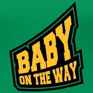 Baby On The Way Design T-shirts - Dame premium T-shirt