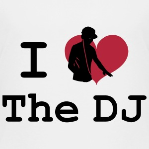 [ I Love the DJ ] T-shirts - Børne premium T-shirt