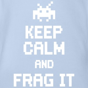 keep calm and frag it Shirts - Organic Short-sleeved Baby Bodysuit