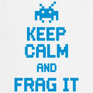 keep calm and frag it Kookschorten - Keukenschort